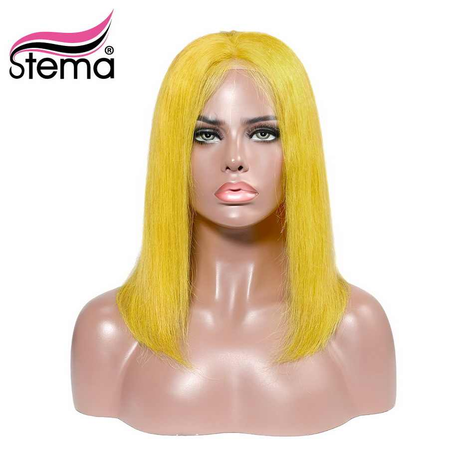 Stema Straight Short Bob Lace Front Wig Ombre