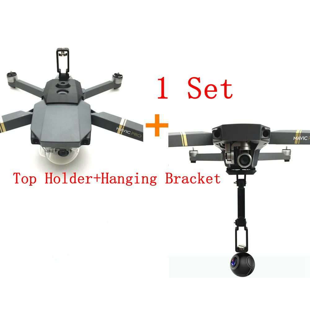 Mavic Pro Gopro 360 Degree Panorama Sports Camera Top Low Mount Holder Hanging Bracket Protection Fixed