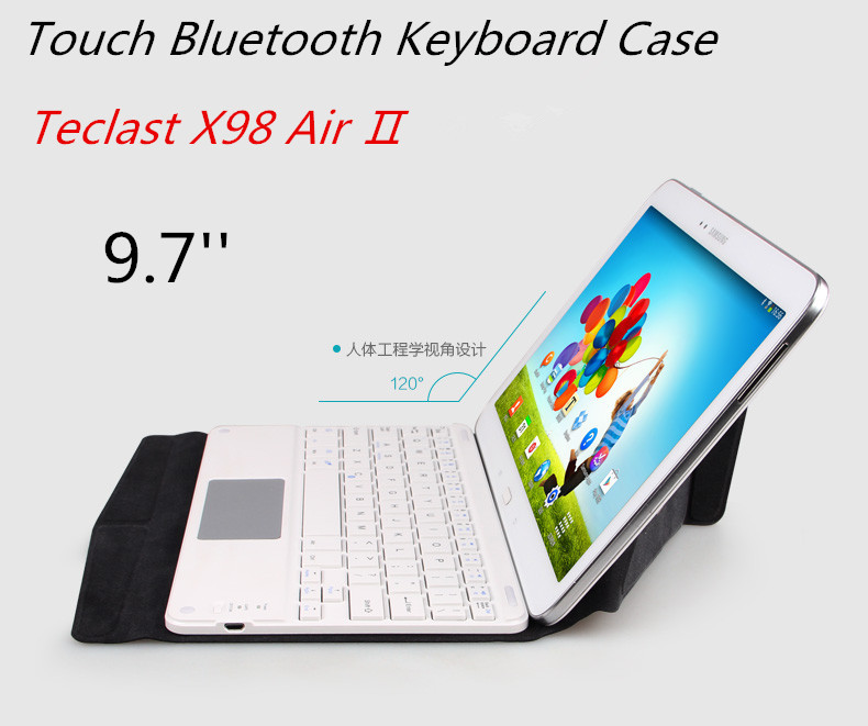 Original Slim Bluetooth Touch Keyboard Case  For Teclast X98 Tablet PC For Teclast X98 Air Keyboard Case For Teclast X98 Air 2 2016 newest keyboard case cover with touch panel for teclast x98 air 2 tablet pc keyboard for teclast x98