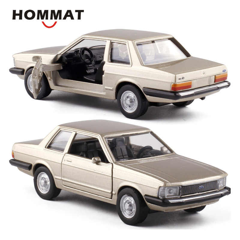 HOMMAT Simulation 1:43 Vintage Ford Del Rey 1982 Model Car Alloy Diecast Toy Vehicle Car Model Gift Cars Toys For Children Boys