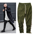 YEEZY Pants Men Kanye West Harem Cargo Joggers Military Army Hip Hop Autumn Drawstring thrasher Pants SUPREMO assc Yeezy Pants