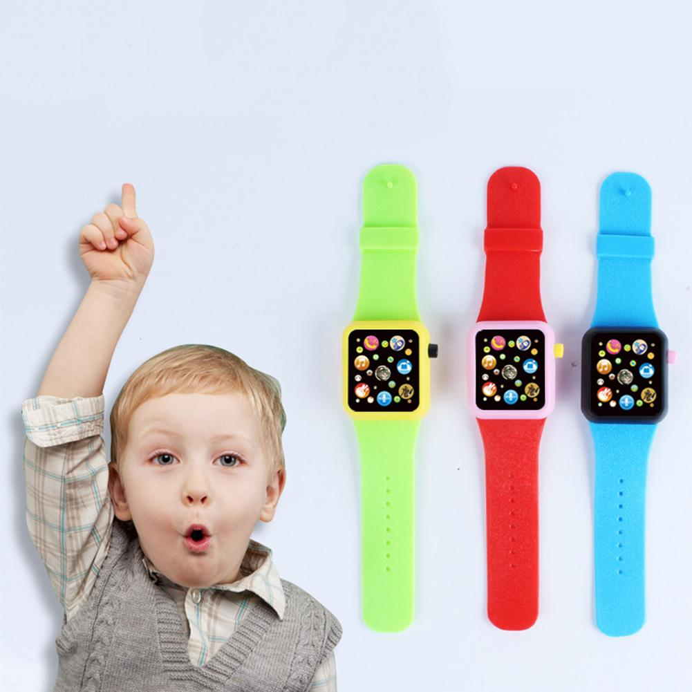 Kids Electronic <font><b>Touch</b></font> <font><b>Screen</b></font> Wrist Watch Toy with Music Sound Early Education Clock Up Watch Funny Things For Baby image