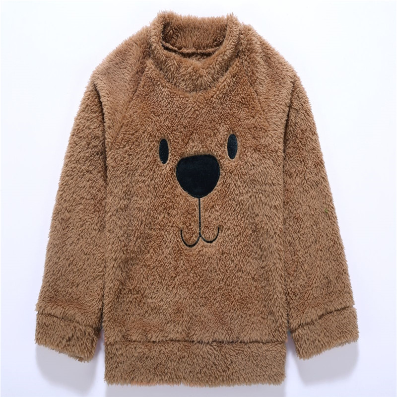 Cute Kids Toddler Baby Girls Boys clothes animal print pullover long sleeve Tops round neck newborn Velvet Sweater one pieces