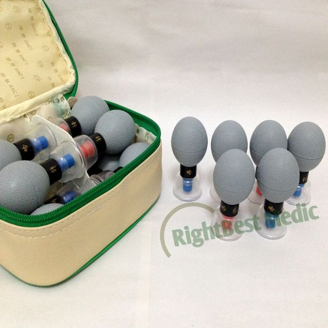 Acupuncture Cupping English&Russian User Manual/HACI Magnetic Acupressure Suction Cupping Set - 12 Cups Acupressure Massage