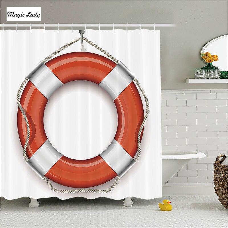 excellent nautical bathroom accessories | Shower Curtain Nautical Bathroom Accessories Decorative ...