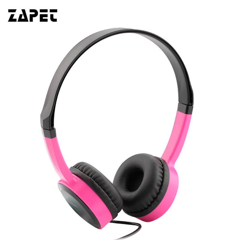 ZAPET Protable iP350 Student Headphone Mobile phone Computer Headset Wearing type Headset bring Microphone Sing Trend woman male