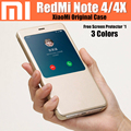 Redmi note 4 case 100% original from xiaomi luxury leather flip cover for xiaomi redmi note4 pro case redmi note 4X