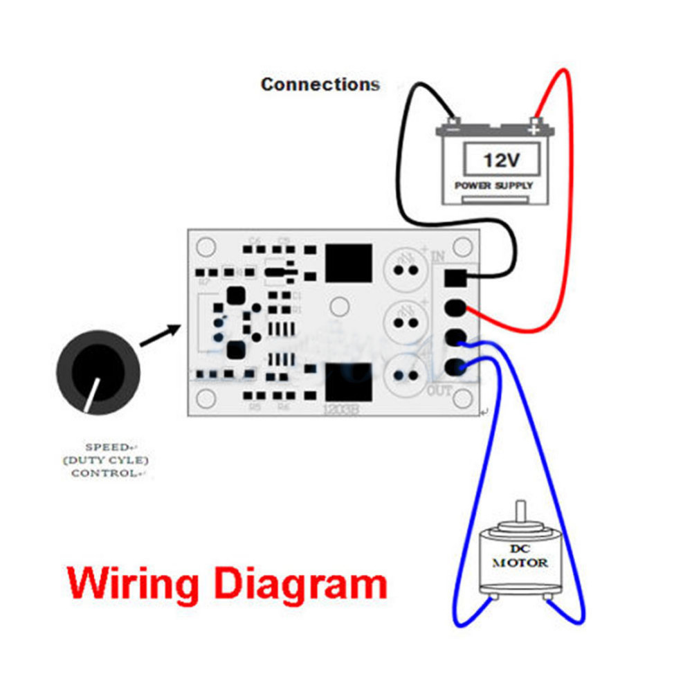 1pcs Dc 6v 12v 24v 28vdc 3a 80w Pwm Motor Speed Controller Regulator Variable Switch Wiring Diagram Adjustable Control With Potentiometer In From