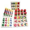 8 шт Дети деревянные Обучающие Игрушки для раннего развития 3D головоломка дети геометрическая форма обучения познание деревянный пазл  игр...