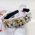 2016 Baroque Hairband DG Headband Retro Wide Headwear White Flowers Pearl Grape Fruit Women Hair Accessories Jewelry Gold Tiara