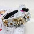 2016 barroco Hairband DG diadema Retro amplia Headwear flores blancas de la perla fruta de la uva mujeres accesorios para el cabello de la joyería oro Tiara