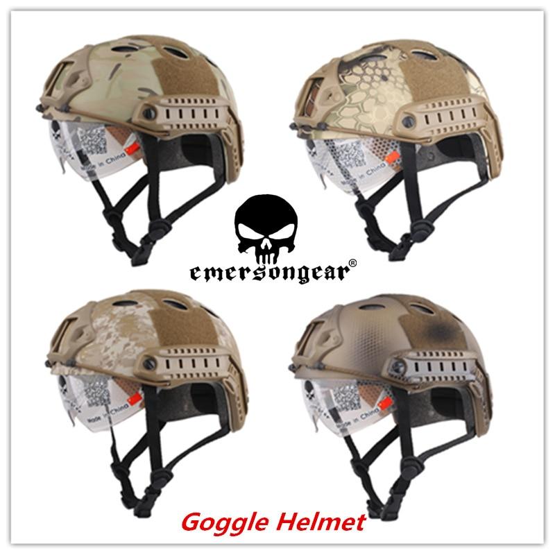 EMERSON RASK Hjelm med beskyttelsesbrille PJ Type EM8819G EM8819F - Sportsbeklædning og tilbehør