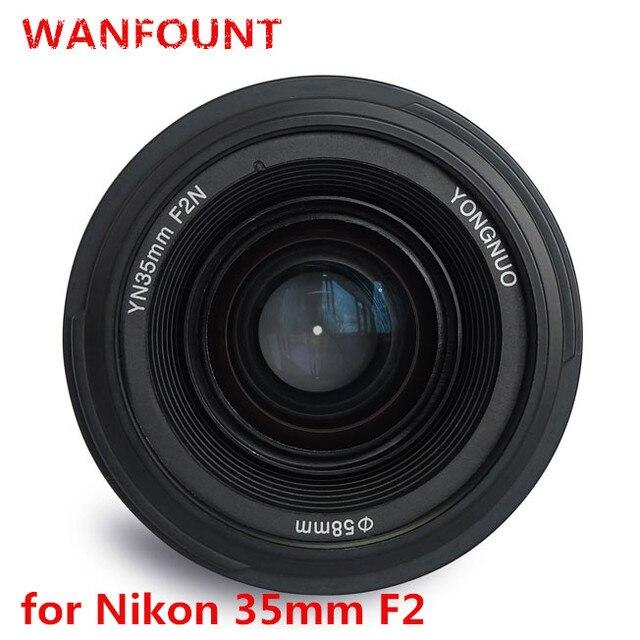 YONGNUO 35mm Ống Kính YN35mm F2.0 AF/MF Cố Định Tập Trung F1.8 AF/EF Ống Kính cho Canon Nikon F núi D3200 D3400 D3100 D5300 cho DLSR Máy Ảnh