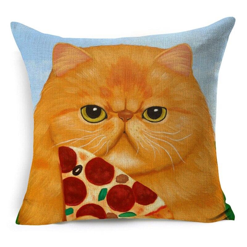 Лидер продаж 2016 года продаж дешевые 45*45 см с милым рисунком кота собаки животных белье подушки назад талии подушки на офис ...