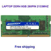 Memória kembona sodimm portátil ddr4 8gb 8g 2133 mhz pc 17000 2666 hz pc 21300 ram compatível completo 260pin