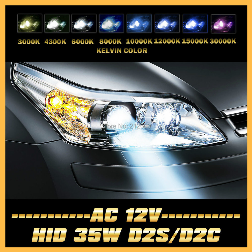 2x 35W D2S D2C HID Car Headlight Replacement Bulb For C