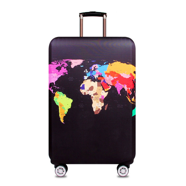 Thicker Travel Suitcase Protective Cover Luggage Case Travel Accessories Elastic Luggage Dust Cover Apply to 18''-32'' Suitcase 2