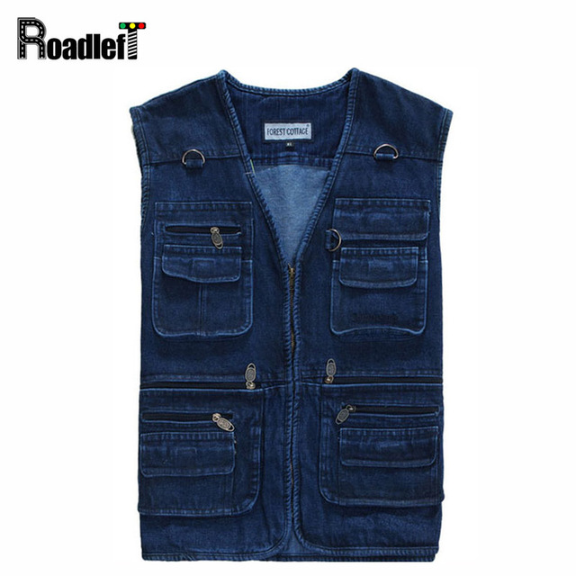 Aliexpress.com : Buy Male classic style cotton sleeveless denim ...