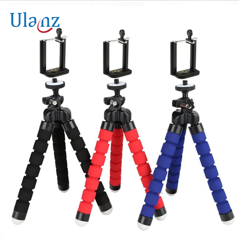 Camera Phone Holder Flexible Octopus Tripod Bracket Stand Mount Monopod Styling Accessories For phone on clip
