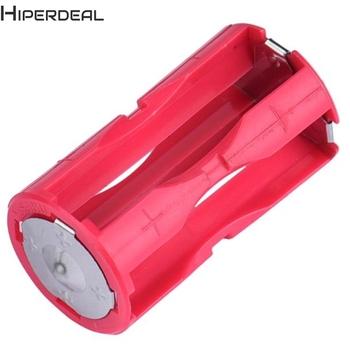 HIPERDEAL uchwyt na baterię uchwyt na baterię DC 1 5V Case Box konwertuj 4 AAA na 1 C rozmiar Poverbank uchwyt na baterię Power Bank H10 HW tanie i dobre opinie Przechowywanie akumulatora box Battery case AAA Battery Holder 4 x 1 5V =6V 4 AAA in Parallel Plastic Metal 13mm x 13mm x 46mm