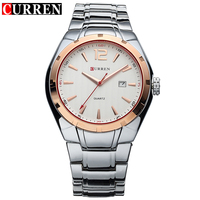 CURREN Luxury Brand Quartz Watch Men Gold Analog Display Date Men S Wristwatch Casual Business Relogio