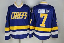 16ee242f4 2018 New 7 Reggie Dunlop Charlestown Chiefs Jersey Slap Shot Movie Ice Hockey  Jerseys Stitched BLUE