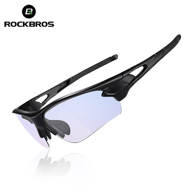 Prix pour Rockbros vélo vélo lunettes de soleil anti-rayons bleus ordinateur verres polarisés en plein air lunettes de sport myopie cadre vélo équipement