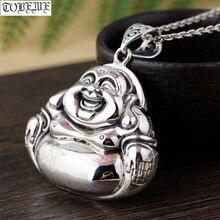 100% 925 prata tibetano rindo buda estátua pingente buda budista pingente tibetano amuleto boa sorte