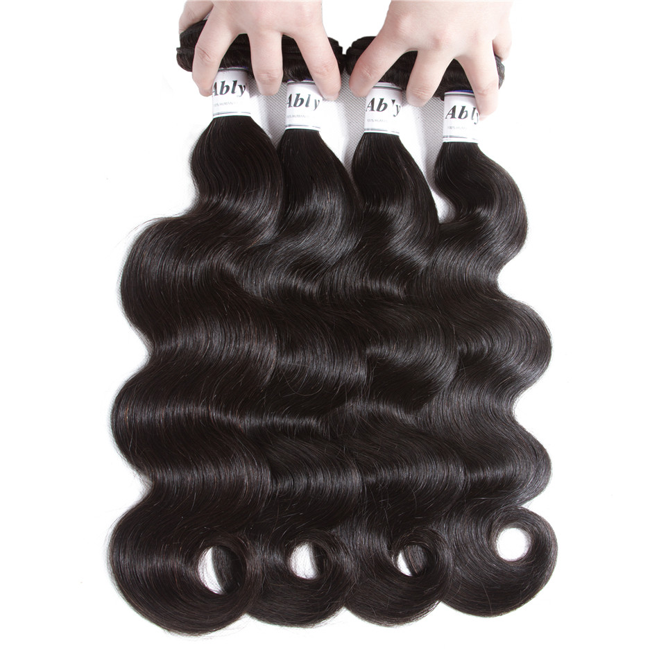 Peruvian Body Wave 4 Bundles With Frontal Remy Human Hair Weft Pre Plucked Lace Frontal Closure With Bundles 100% Human hair