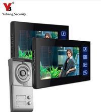 Yobang Security LCD multi apartment video door phone, video intercom system with 4G SD card video recording door intercom