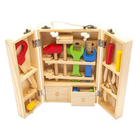 Kids Wooden Toys Set Multifunctional Tool Set Maintenance Box Wooden Toys for Baby Nut Combination Chirstmas Birthday Gift Toys