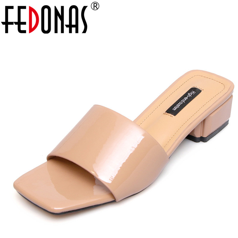 FEDONAS 2018 Fashion Sandals Women Summer Thick Heel Soft Leather Comfort Casual Shoes Woman High-heeled Sandals Women franxois 2017 women summer shoes fashion platform soft pu sandals women s high heeled shoes thick heel sandals big size 25cm