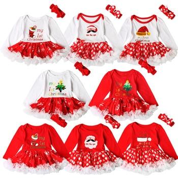 92314e57a De moda ropa de bebé vestido de las niñas de Navidad Santa Clauds Tutu vestido  vestidos para niñas bebé recién nacido bebé Navidad vestido