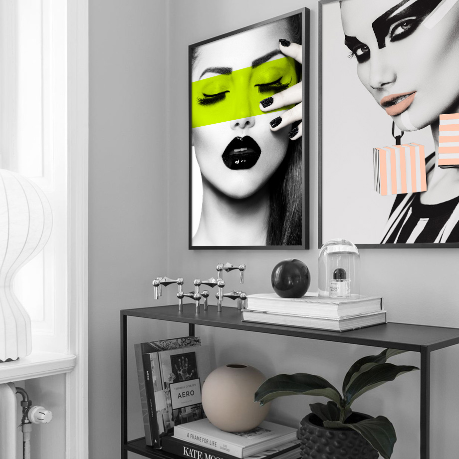 Sexy Girl Lip Makeup Salon Wall Art Canvas Painting Nordic Posters And Prints Fashion Poster Wall Pictures For Living Room Decor