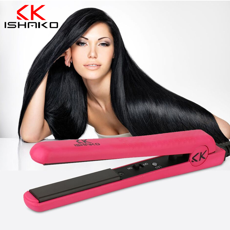 ФОТО Mini Ceramic Electronic hair straighteners 100-240v Professional Fashion Straightening Irons Styling Tools