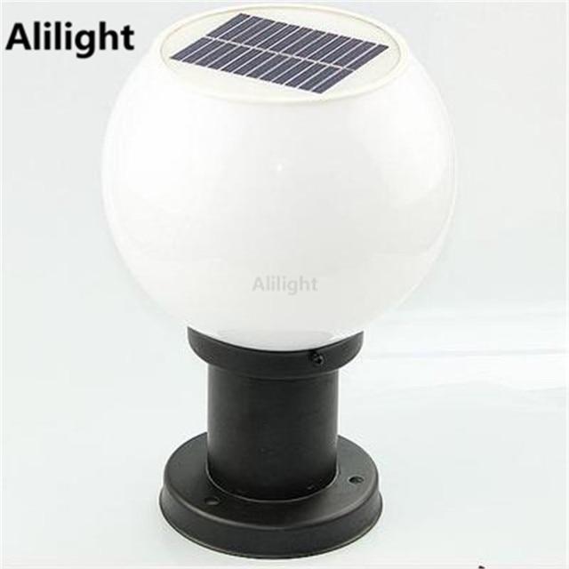 Outdoor Globe Solar Post Licht Säule Lampen Straßenbeleuchtung