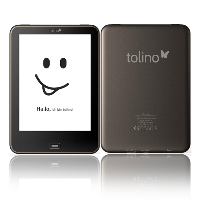 6 inch Built in Light  4GB eBook Reader WiFi Tolino vision touch screen ebook Reader e-ink 1024x758 212PPI electronic Book