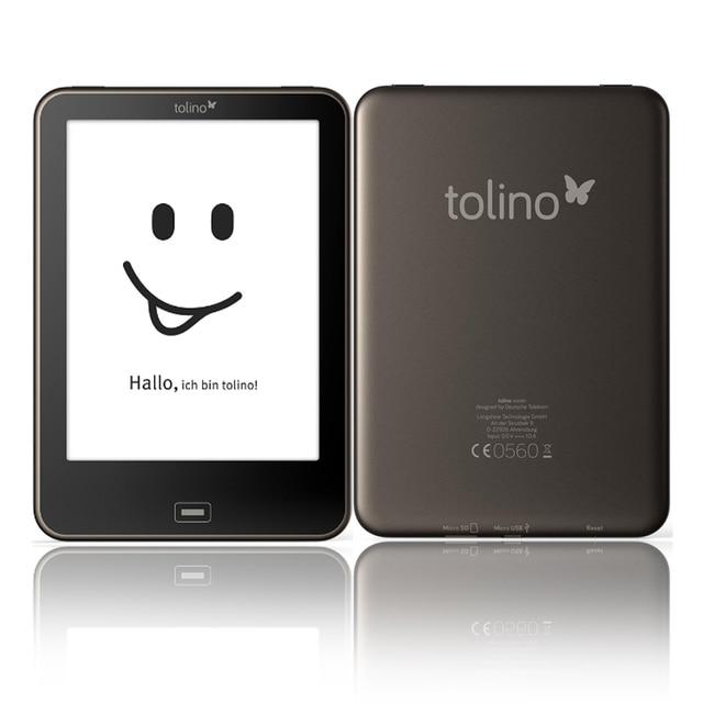 6 inch Được Xây Dựng trong Ánh Sáng 4 GB eBook Reader WiFi Tolino tầm nhìn màn hình cảm ứng ebook Reader e-ink 1024x758 212PPI Cuốn Sách điện tử