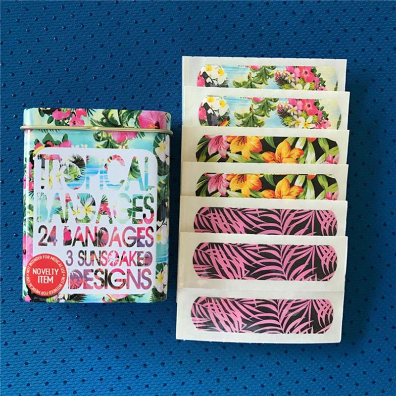 20Pcs Waterproof Cute Cartoon Kids Aid First Aid Emergency Kit Adhesive Bandage Wound Plaster Kits Random Design