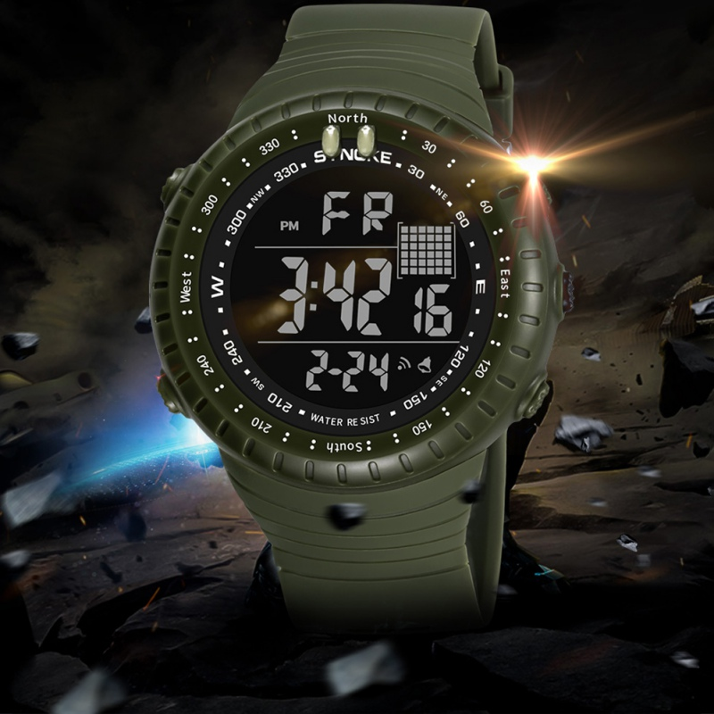 Men Sports Digital Watch Waterproof Multifunction Outdoor Electronic Watch Wristwatch With Luminous LED Screen 2018 Watch sports outdoor multifunction electronic watch for men