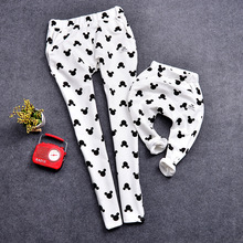 2016 family look new spring leggings children printing family matching mother daugter clothes mother son outfits legging pants