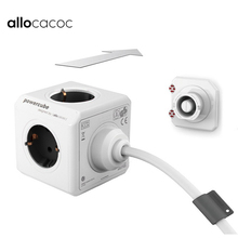Allocacoc EU Plug 1.5/3M Extension Cord Powercube Power Strip Electric 4 Outlet 2 USB Ports Travel Adapter Multi Socket Home Use