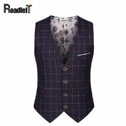 British preppy style men s business casual suit vest men slim plaid dress vests male single.jpg 250x250