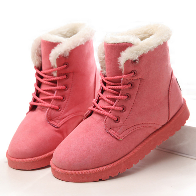Women Boots Winter Super Warm Snow Boots Women Suede Ankle Boots For Female Winter Shoes Botas Mujer Plush Booties Shoes Woman 2