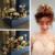Barroco Do Vintage Acessórios Para o Cabelo Elegante Pérola Da Coroa De Noiva Tiaras Jóia do Cabelo Da Noiva Do Casamento Flor Da Folha De Ouro