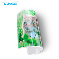 TIANSE A4 Laminating Pouches 8C Rounded Corner PET Plastic Film 100 Sheets Pack Luminous High Glossy
