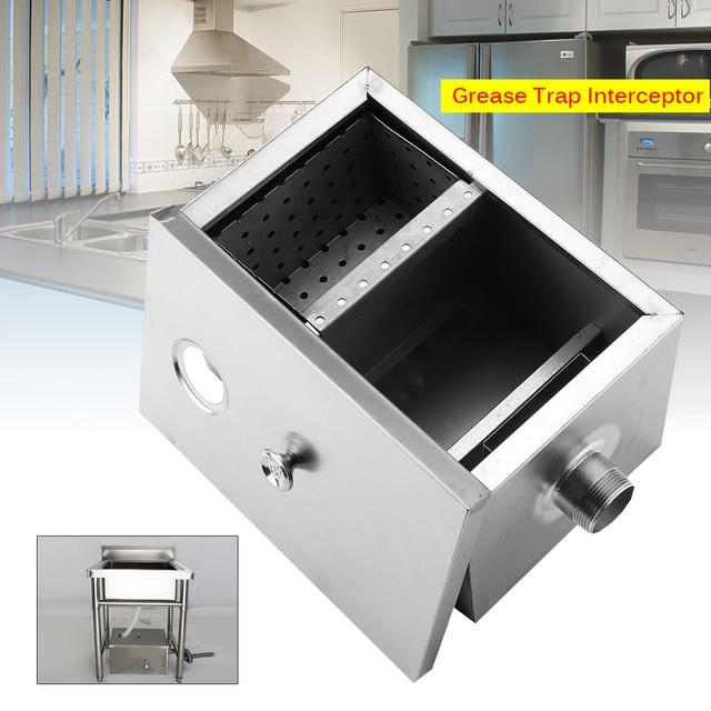 Stainless Steel Grease Trap Interceptor Set For Restaurant Kitchen ...