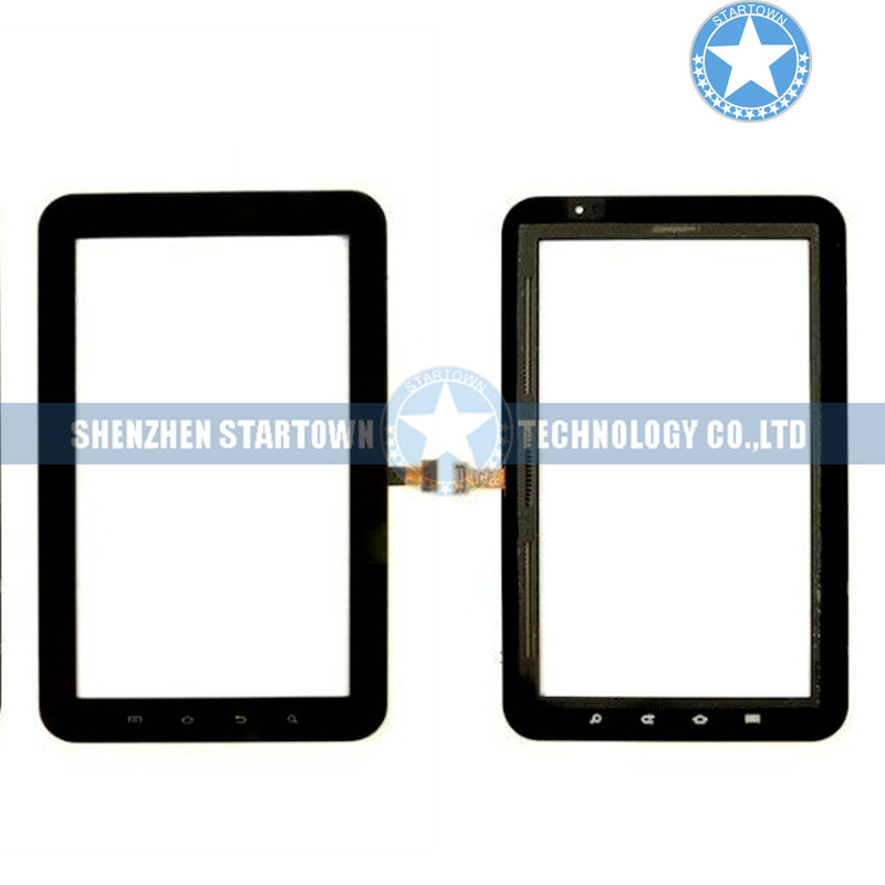 Black Digitizer Touch Screen Glass For Samsung <font><b>Galaxy</b></font> <font><b>Tab</b></font> <font><b>GT</b></font>-<font><b>P1000</b></font> <font><b>P1000</b></font> Part image