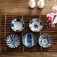 OTHERHOUSE Seasoning Sauce Dish Ceramic Plate Small Dish Side Plates Butter Sushi Vinegar Soy Dishes Kitchen Porcelain Saucer