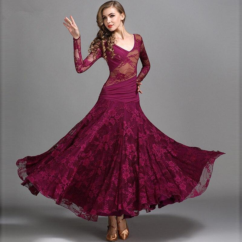 b32a67f8116a065 Фиолетовый зеленый стандартный танец платья фламенко платье костюмы для бальных  танцев вальс платья женщин Красный социального танго